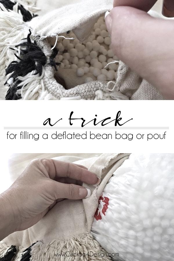 How to stuff a bean bag