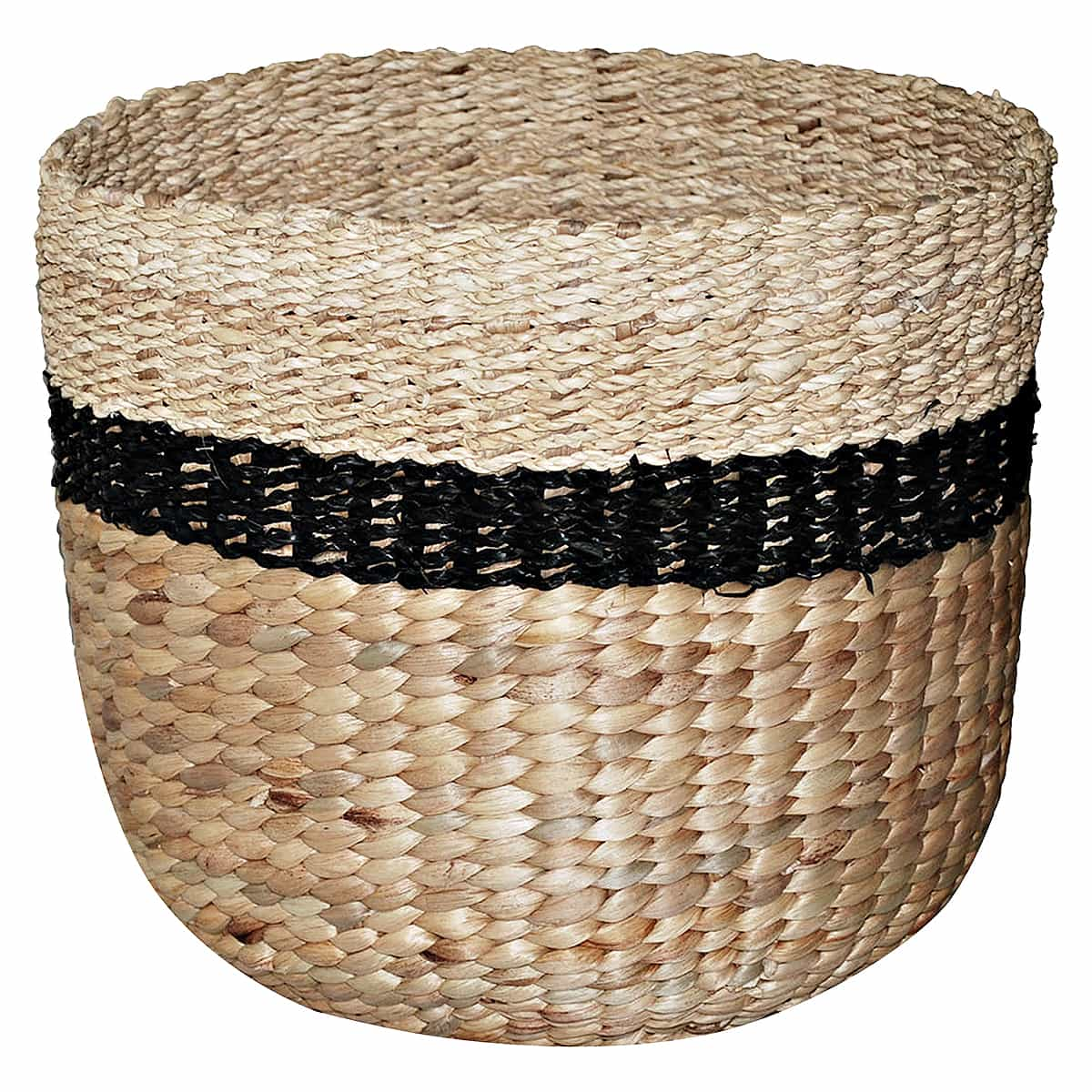 Threshold woven basket