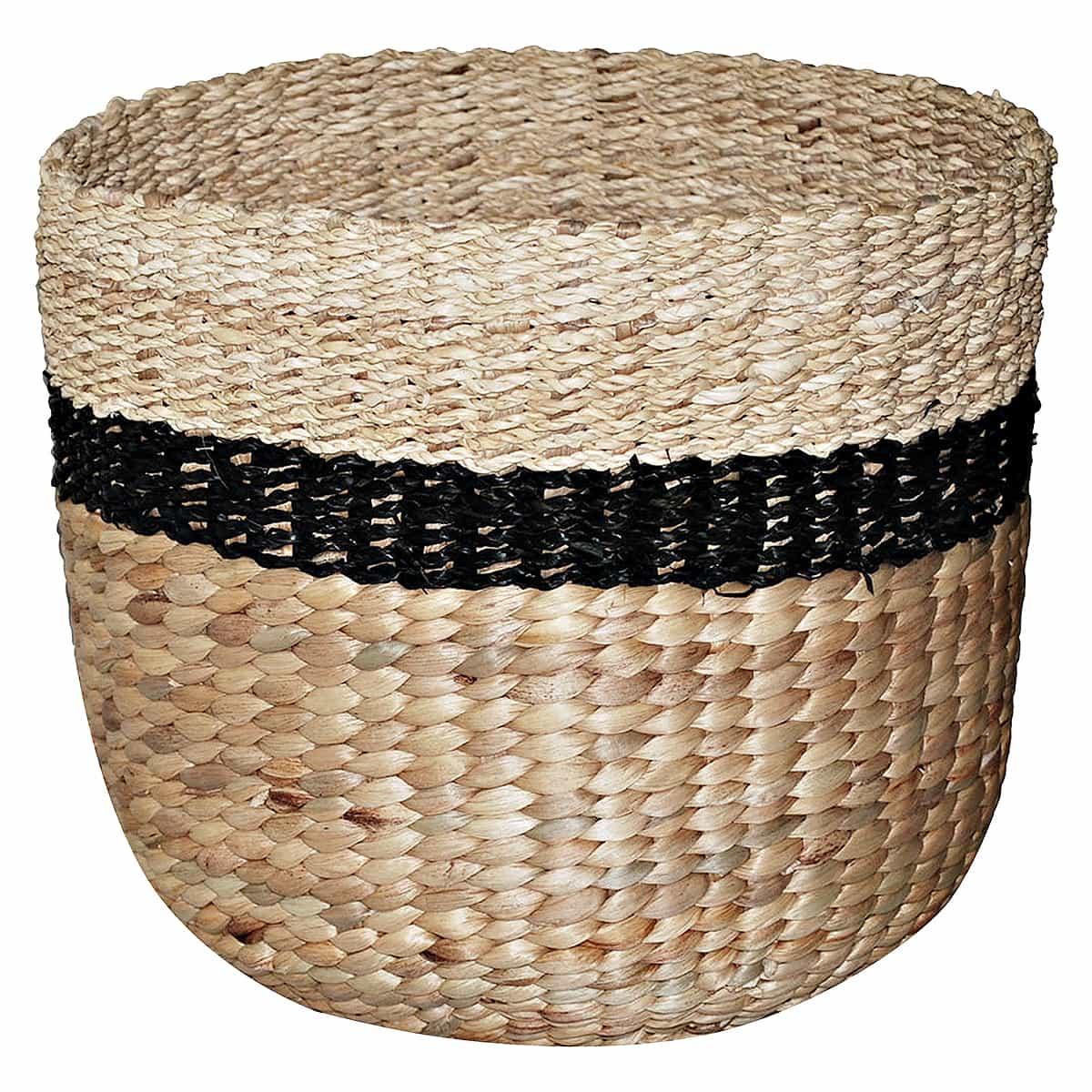 Threshold woven basket