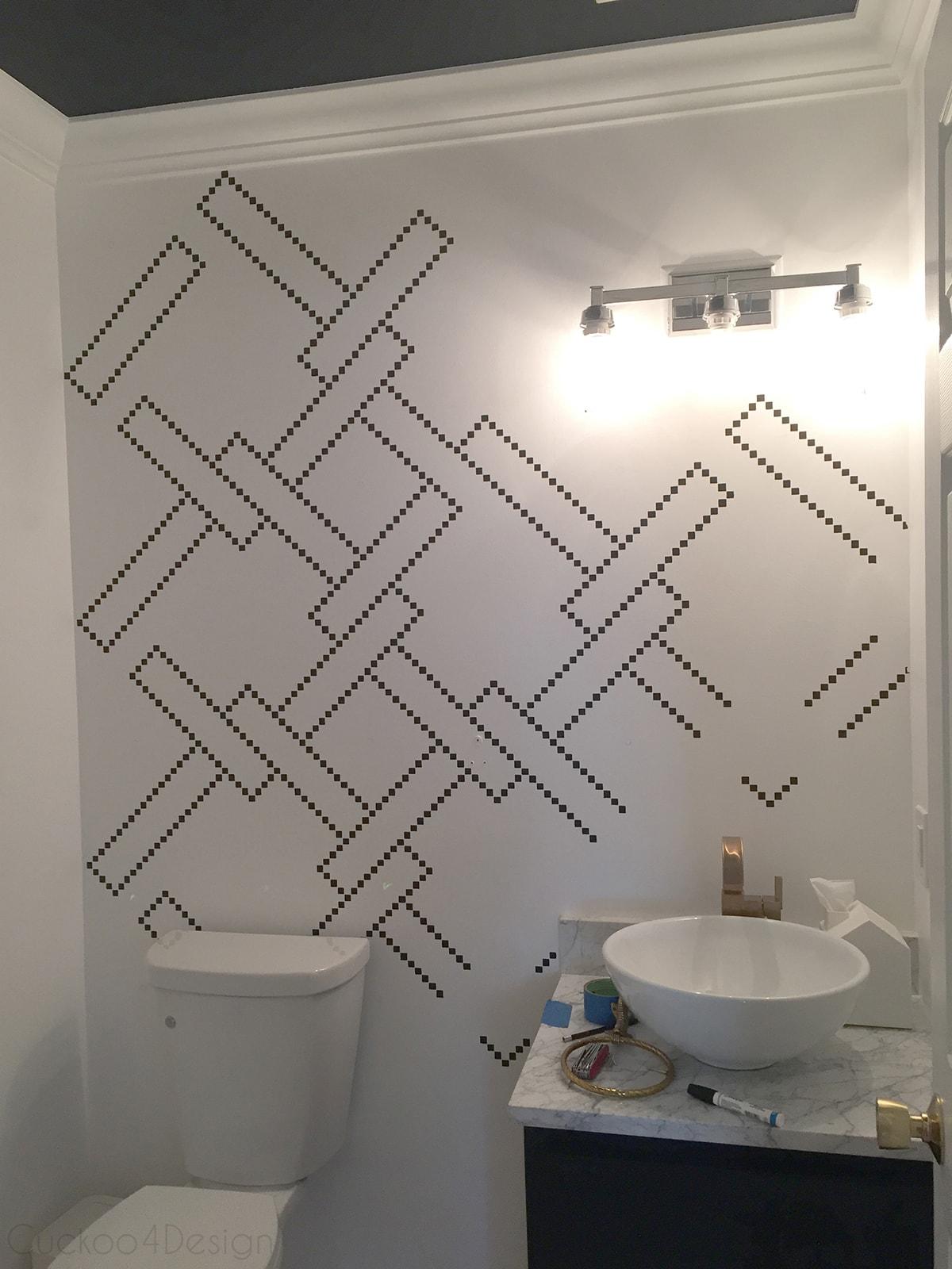 Bathroom wall stencils