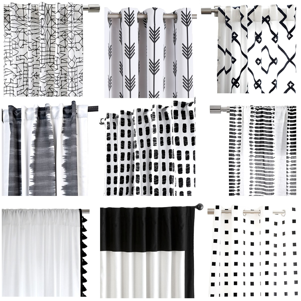 Black and white curtains - Black And White Curtains 10
