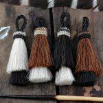 black and white horse hair tassels