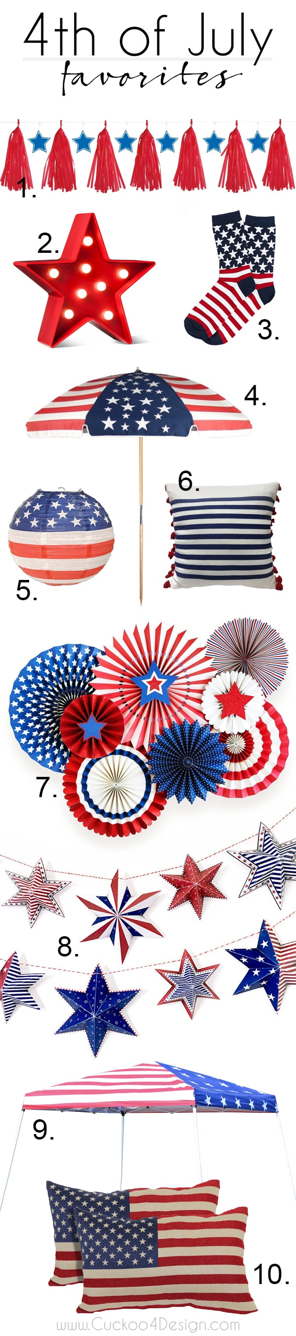 4th of July home decor favorites