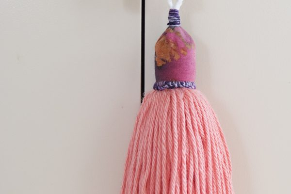 DIY batik fabric and wool tassels
