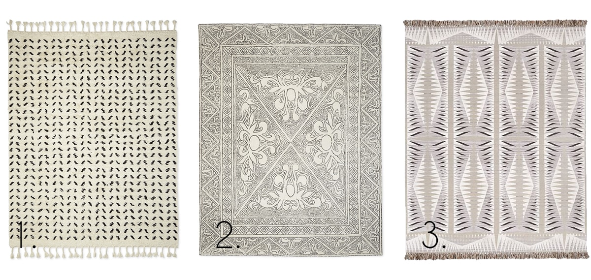 favorite patterned neutral rugs