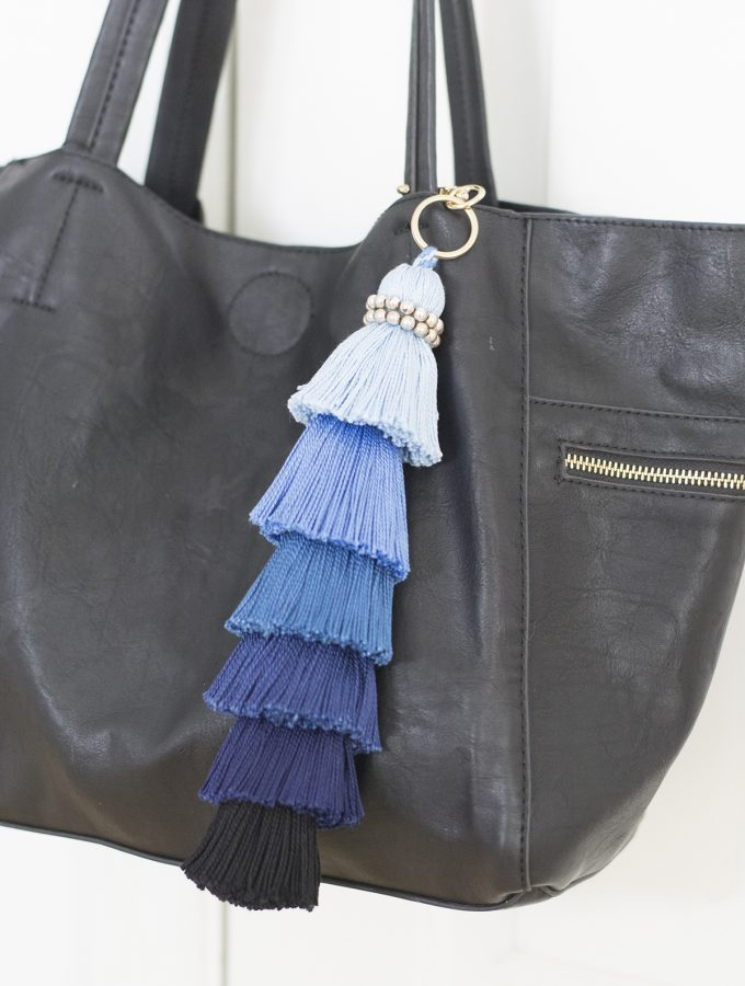 DIY huge stacked ombre tassel