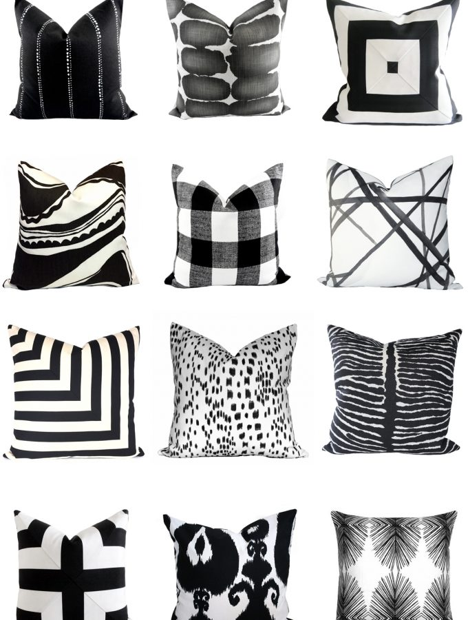 Friday Favorites: 21 handmade black and white Etsy pillows