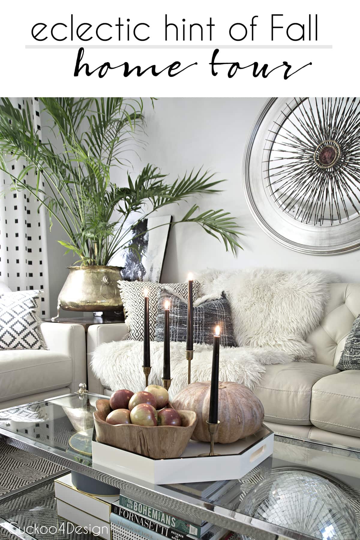 modern and minimal fall decor in this eclectic home tour