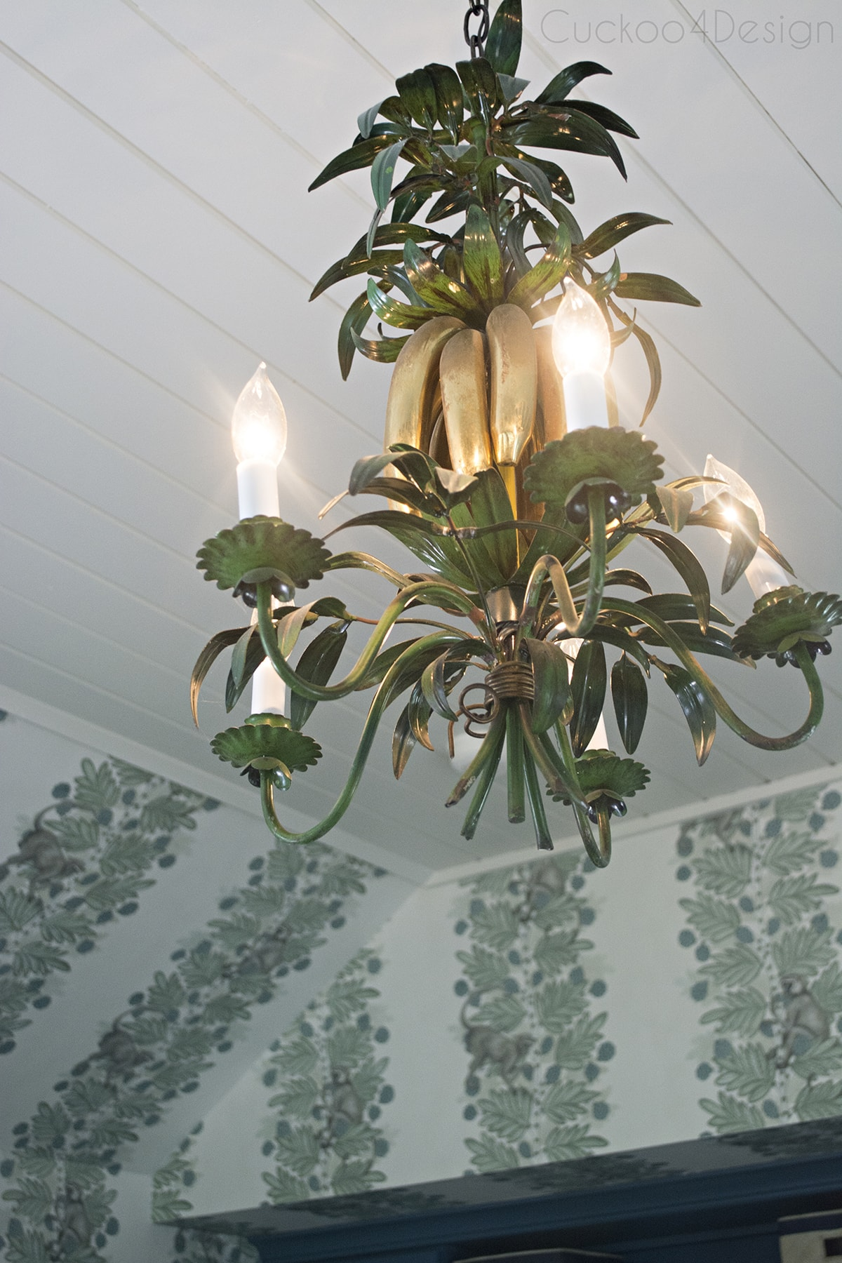 banana and leaf chandelier