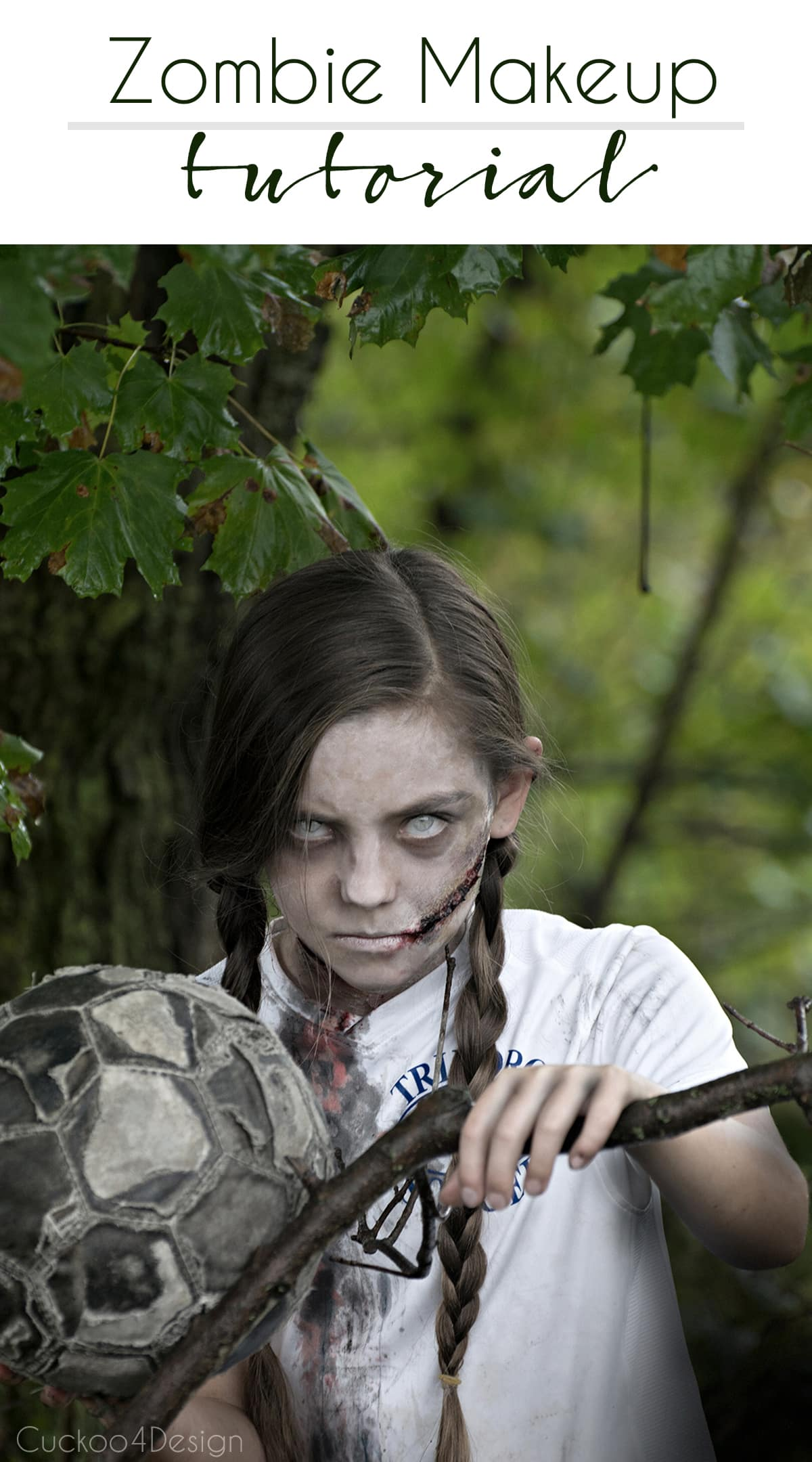 easy tutorial on how to make creepy zombie makeup with some easy to follow steps. If you can decoupage a craft project than you can make zombie makeup too
