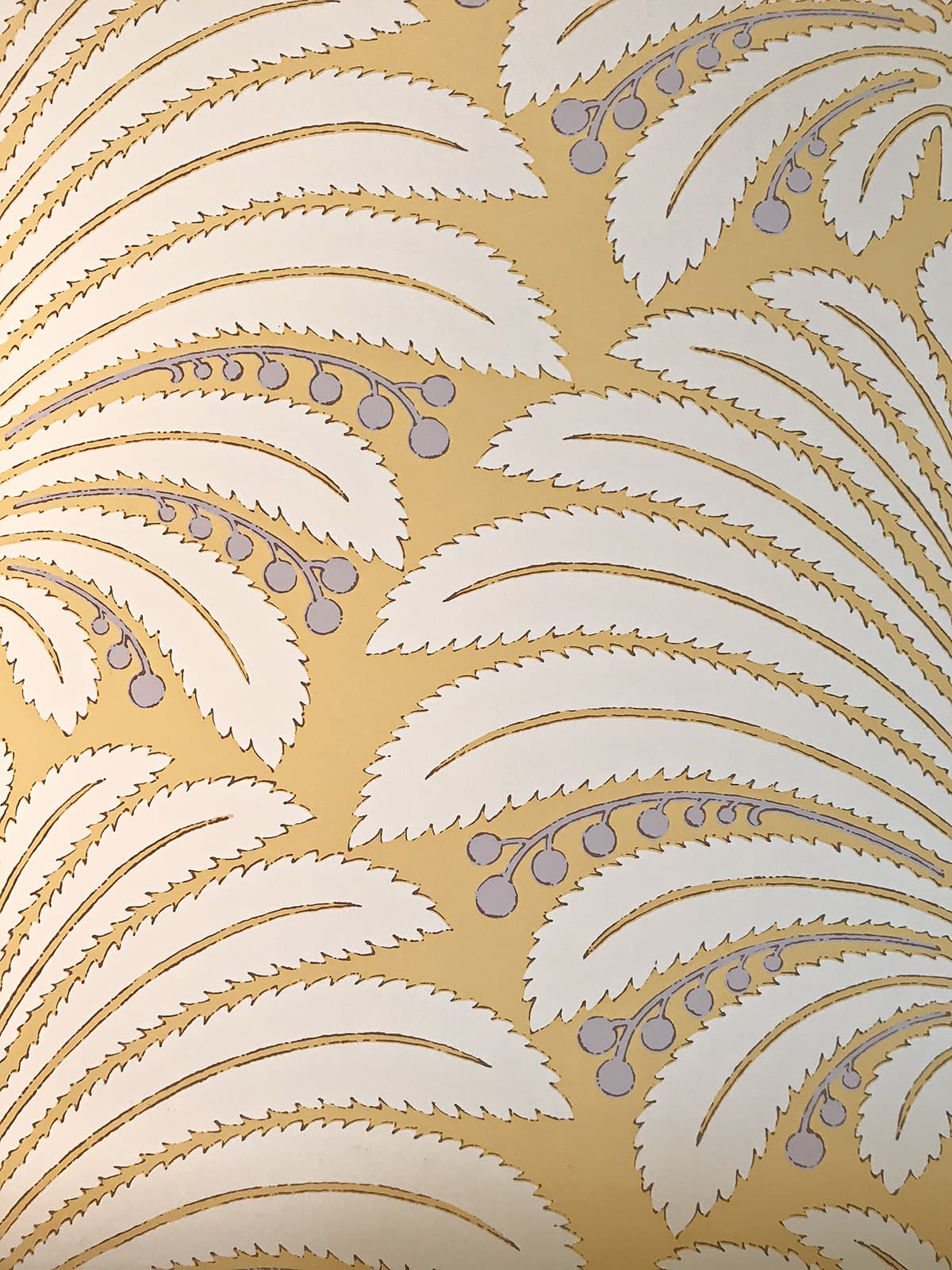 Hines Pamyra in yellow wallpaper
