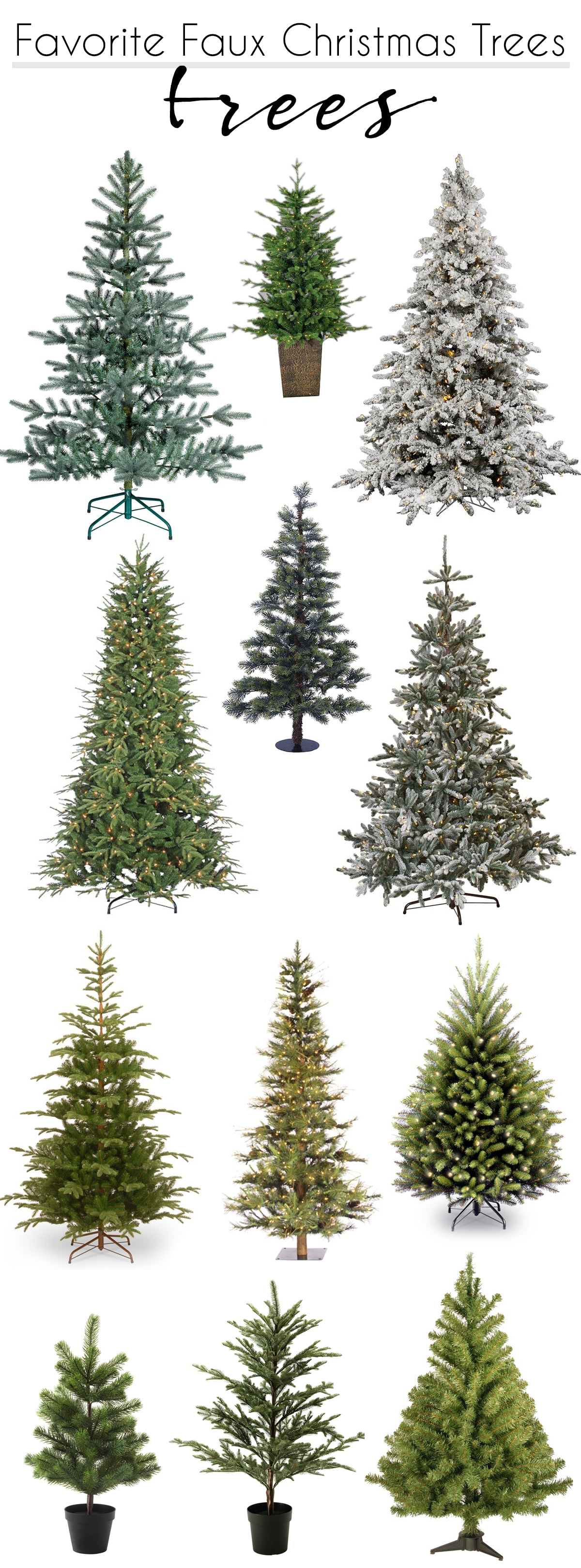 my favorite faux Christmas Trees | I own 3, 10 and 12 and love them