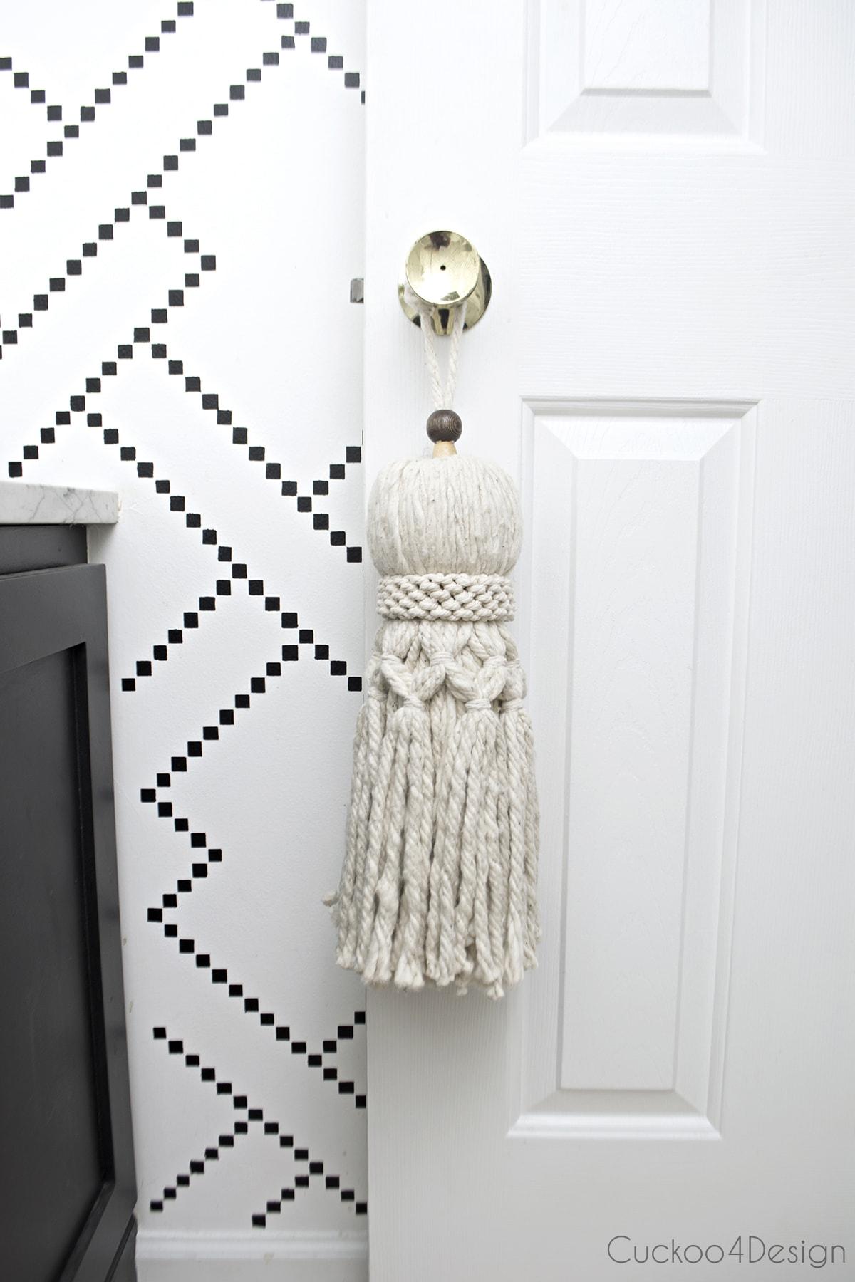 How to make your own huge oversized tassel | DIY huge tassel for $9 | tassel made from mop | affordable DIY tassel