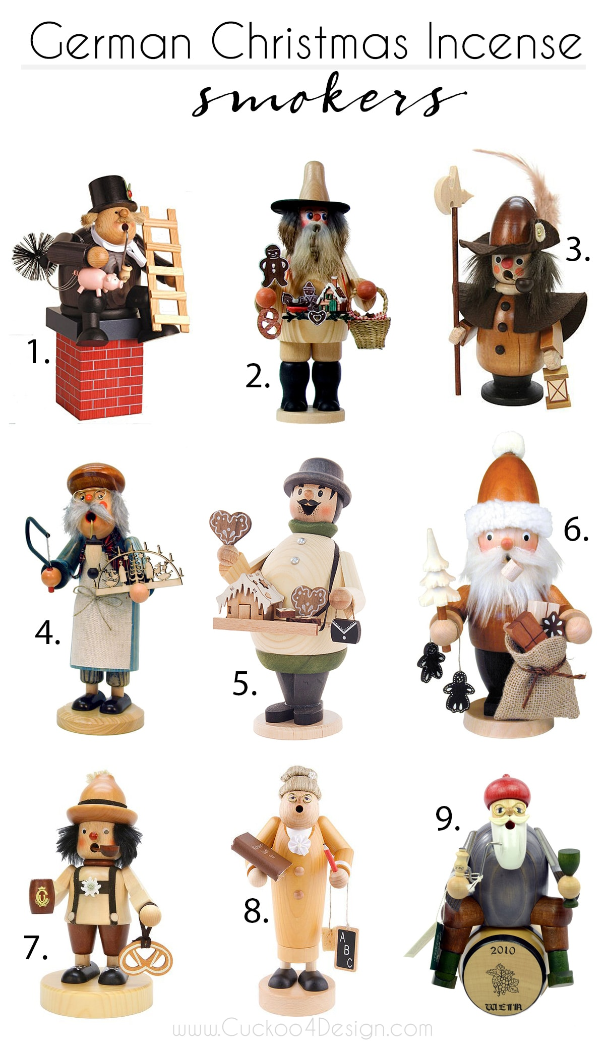 my favorite wooden German incense smokers
