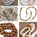 favorite handmade wood bead garlands
